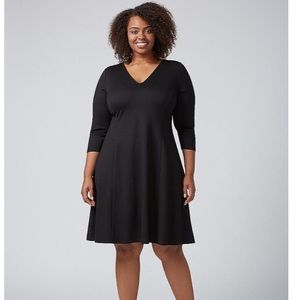 Lane Bryant Black Fit & Flare Night Out Dress